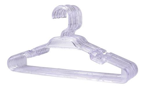 Cabide Infantil Cristal Acrílico Transparente - 25 Peças