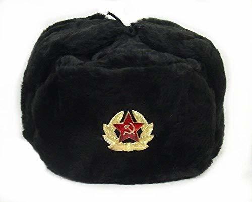 Ruso Sovietico Ejercito Piel Militar Cosaco Ushanka