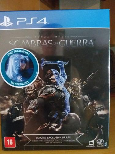 Sombras Guerra Ps4 Edicao Box Exclusiva Br Promocao