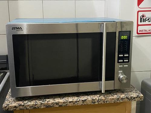 Microondas Grill Atma 30l Mc930xn Acero Inoxidable Easy Cook