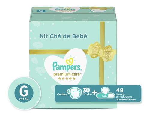 Kit Fralda Pampers Premium Care G 30un + Lenço A. Vera 48un