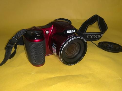 Câmera Nikon Coolpix L820 Vermelha