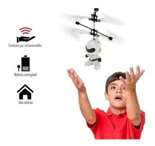 Mini Drone Robo Voador Infravermelho Voa De Verdade