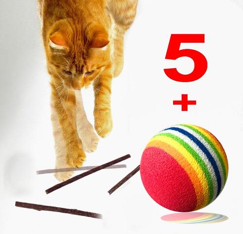 5 Palitos Matatabi + 1 Brinquedo Gato Feliz Varias Opcoes