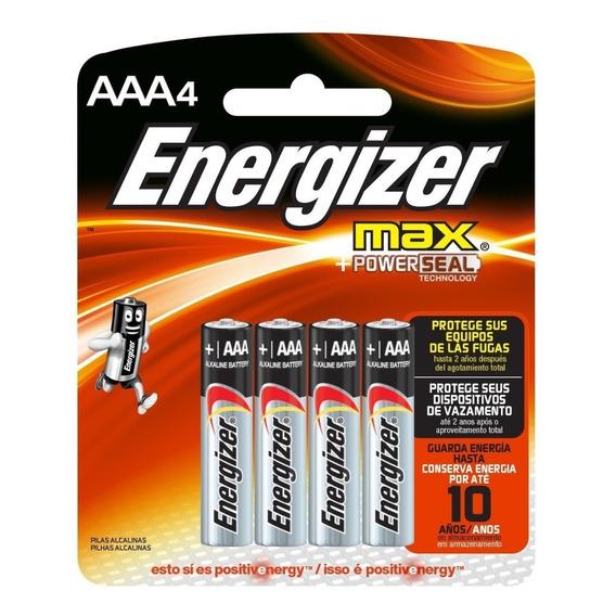 Pilas Energizer Aaa X 4 Unidades Original