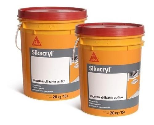 Sikacryl Membrana Liquida Sika 20 + 20 Kgs. Colores.