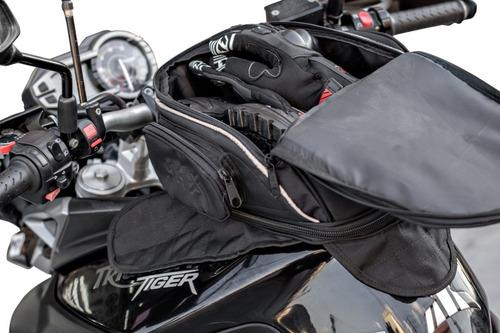 Mala Tanque Ferro Black 14 Litros Com Imã Moto Honda Xre 300