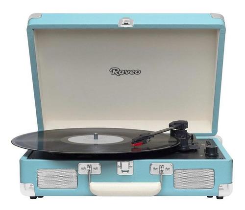 Vitrola Raveo Sonetto Chrome Light Blue Toca Discos Bt Usb