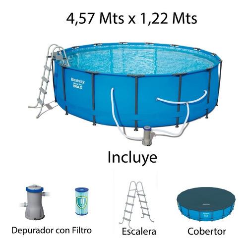 Piscina Bestway Armable 4,57 X 1,22 Mts Depurador Y Escalera