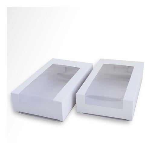 Caja Estuche P/cookies Visor 10x17x04 Cm - Pack X 10 Un.