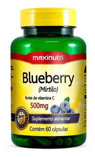 Blueberry Mirtilo - Maxinutri - 60 Capsulas
