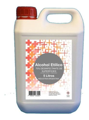 Alcohol Etílico Al 70% X 5 Lts