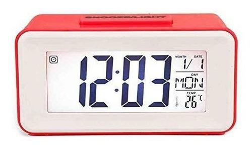 Reloj Digital Mesa O Escritorio Alarma, Temperatura Fecha