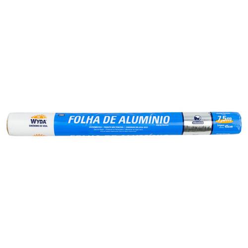 Folha De Alumínio Em Rolo Wyda 45cm X 7,5m