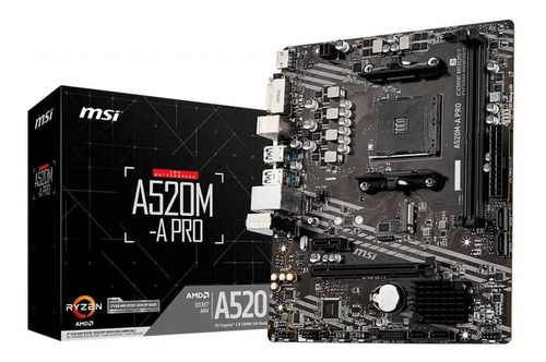 Motherboard Msi A520m A Pro Am4 Ddr4 3ra Y 5ta Gen P/amd