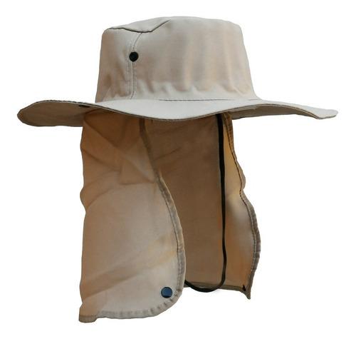 Chapéu Australiano Pesca Carpinteiro Camping Protetor Nuca