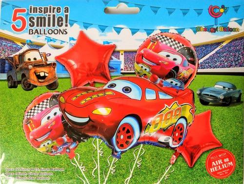 Kit Cars Rayo Mc Queen Globos Metalizados
