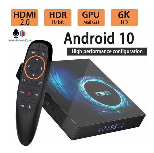 Tv.box T-95 Control Voz De  Mando 4/32 Bluetooth Amdroid 10