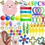 Ovelha Push Pop Fidget Antistress 48 Dedo Toy Kit