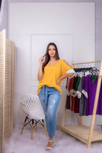 Blusa Feminino Bata Vazada Camisa Para O Verao Roupa Barata