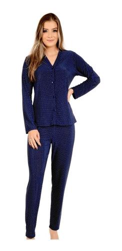 Pijama Longo De Liganete Poá