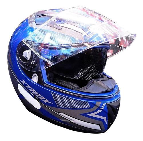 Capacete Moto Ebf Xtroy X29 Com Óculos Interno Narigueira