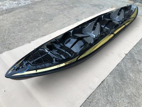 Caiaque Duplo K2 Pro Pesca Fibra +remos+colete Black Edition