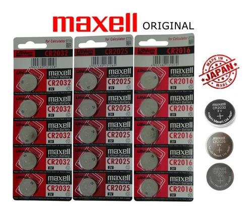 Bateria Maxell Cr 2032 Placa Mae Balança Eletronica-5pçs