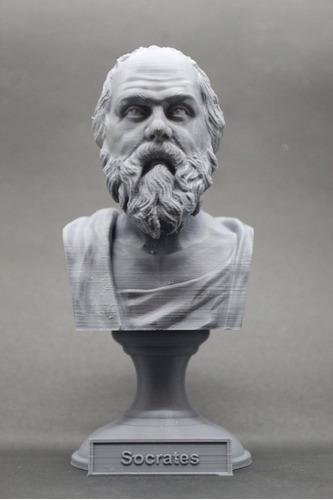 Escultura Estatua Busto Filósofo Grego Sócrates