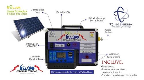 Cerca Eléctrica Solar 40km (todo En Uno), Puertos Usb