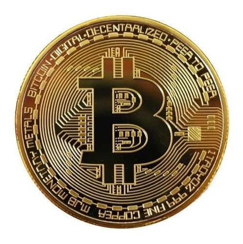 Moneda Bitcoin Física Coleccionable Con Cápsula