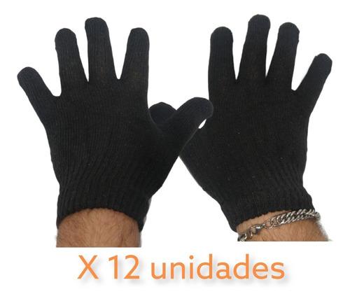 Guante Mágico Negro Unisex X 12 Mayorista Invierno Pacho's