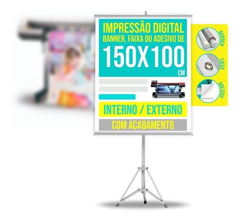 Banner Personalizado Faixa Ou Adesivo 1,5 X 1 M / 150 X 100
