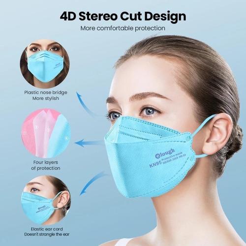 20 Máscaras 3d 4d Boca De Peixe Reutilizável Elough Pff2 N95
