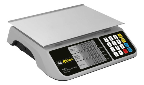 Báscula Comercial Digital Rhino Bar-6 20kg 100v/240v 28cm X 20cm