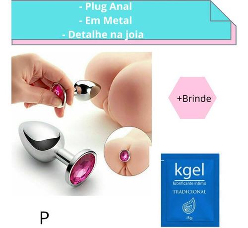Gel Lubrificante+ Plug A-nal Jóia Aço Metal Confortável Top1