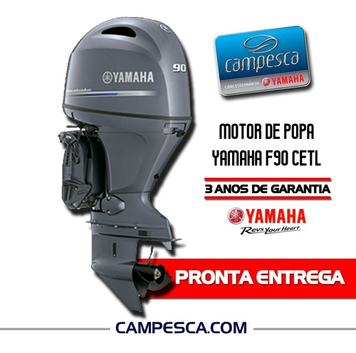 Motor Popa Yamaha F90 Cetl 2021 4 Tempos Pronta Entrega Zero