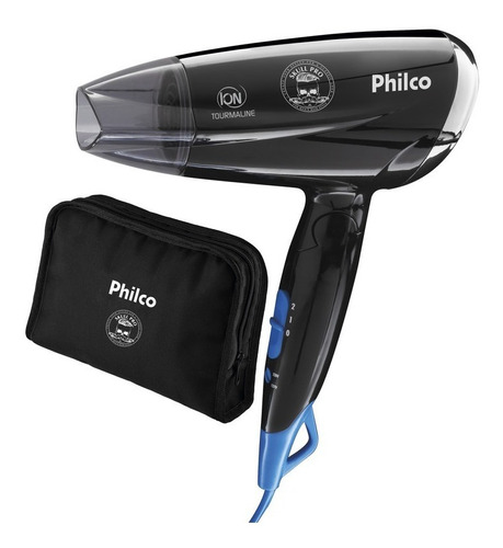 Secador De Cabelos Philco Skull Pro Travel Psc07 1200 Bivolt