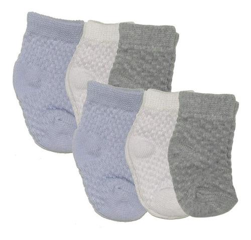 Kit Com 6 Pares De Meias Recém Nascido Cores Sortidas - Bebê