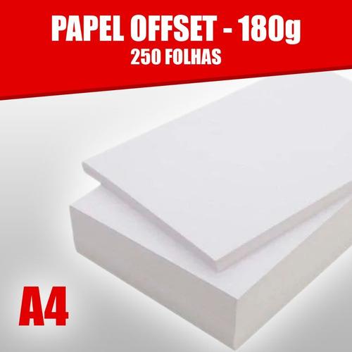 Papel Offset 180g Caixa Com 250 Folhas Tamanho A4 Branco