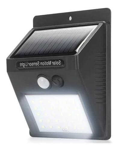 Luminaria Solar Luz Led Com Sensor De Presença Automático