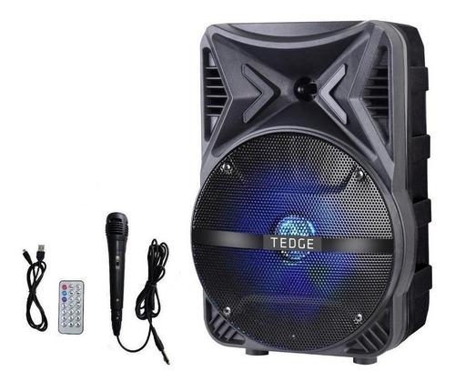 Alto-falante Tedge Tk-86 Portátil Com Bluetooth Preto 110v/220v