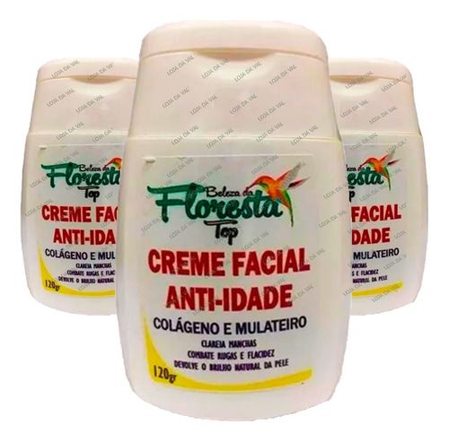 Mulateiro Do Amazonas 120 G Original Creme Facial Clareador