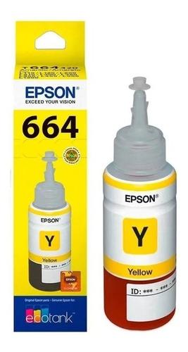Tinta Epson T664 Amarillo Original T664420 L200 L355 L395