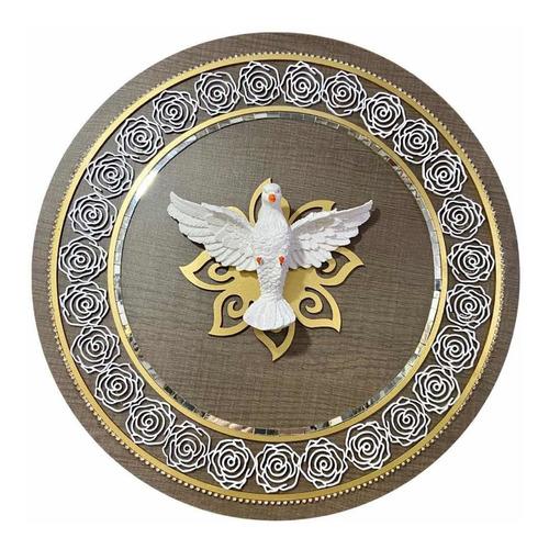 Mandala Do Divino Espirito Santo Decorativo Para Parede 43cm