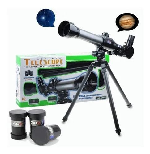 Telescópio Astronômico Com Brinquedo Educativo Tripé