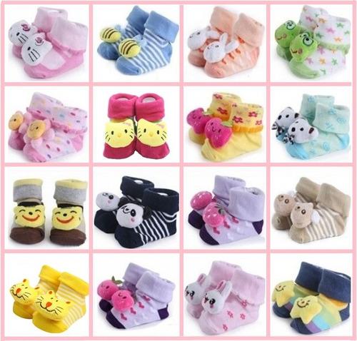 6 Pares Pantufa Infantil Menino Menina Bebê Sapatinho Bota
