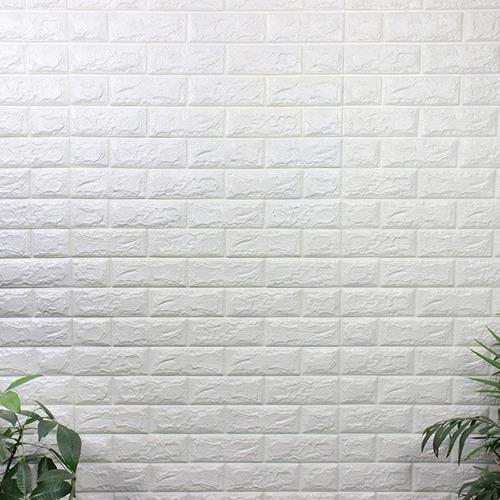 Revestimiento Pared Adhesivo Facil Colocacion Piedra Blanco