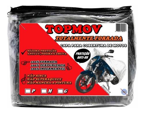 Capa Para Moto Impermeável Texturizada Proteção Raios Uv