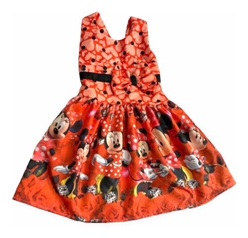 Vestido De Festa Infantil Temático Minnie
